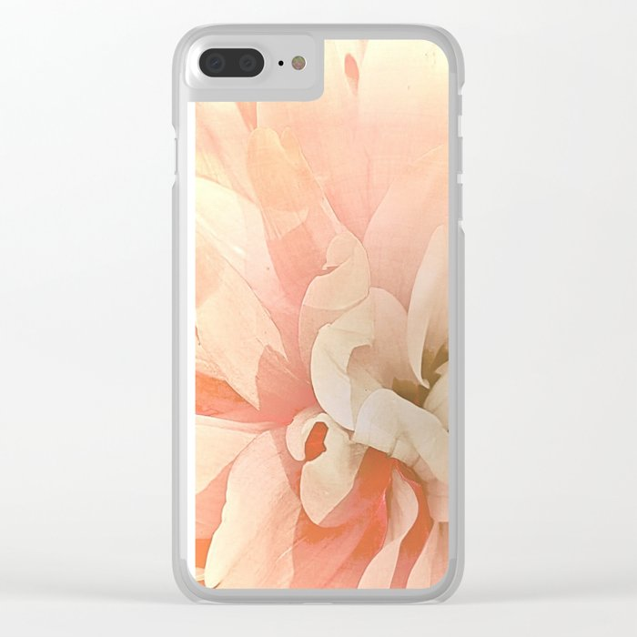 Dahlia, Soft Pink Glow Clear iPhone Case