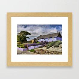 Lavender farm and shop Framed Art Print