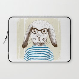 Hipster Rabit with Style Laptop Sleeve