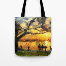 Love watching the sunset Tote Bag