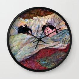 """Henri de Toulouse-Lautrec """"The Bed"""" Wall Clock"""