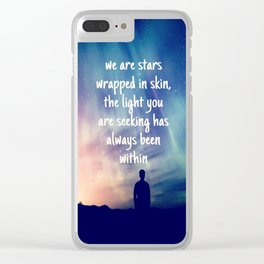 Stars Wrapped Clear iPhone Case
