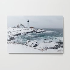 Cape Elizabeth Lighthouse, Maine Metal Print