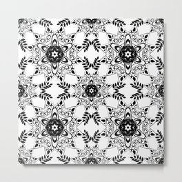 Monochrome, black and white pattern. Metal Print