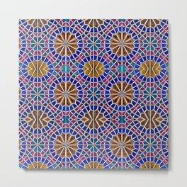 Colorful Geometric Persian Mosaic Tile Metal Print