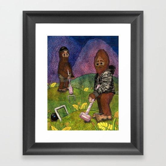 Croquet Framed Art Print