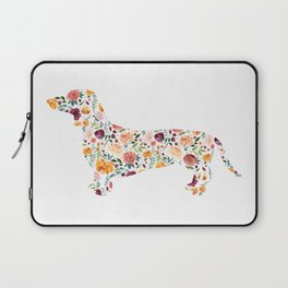 Dachshund - Watercolor/Floral Laptop Sleeve