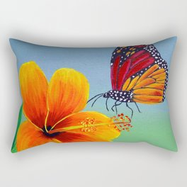 Lily with Butterfly Rectangular Pillow