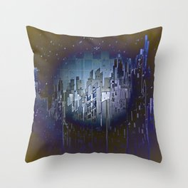 Walls in the Night - UFOs in the Sky Throw Pillow