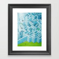 Wall City Framed Art Print