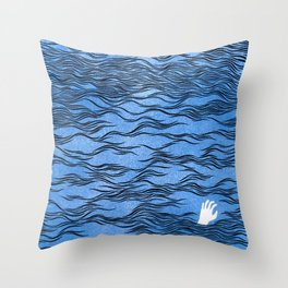 Man & Nature - The Dangerous Sea Throw Pillow