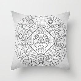 Hermetic Principles Throw Pillow