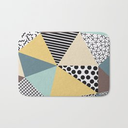 Abstract Geometry Bath Mat