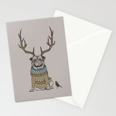 Deer Pug Stationery Cards