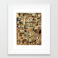 alphabet Framed Art Prints featuring Alphabet by Kerri Swayze