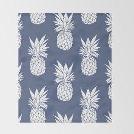 Pineapple Blues Throw Blanket