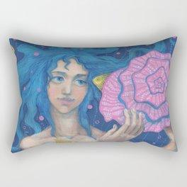 Listening to the Sea Rectangular Pillow