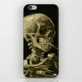 Vincent Van Gogh Skull of a Skeleton with Burning Cigarette iPhone Skin