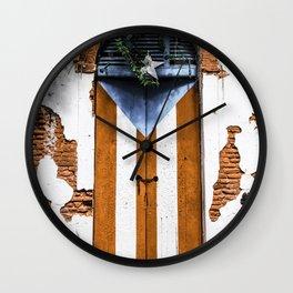 Puerto Rico Door Wall Clock