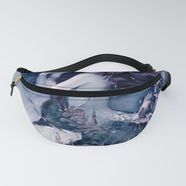 Henry Clive: Mermaid with Pearl Teal Violet Fanny Pack