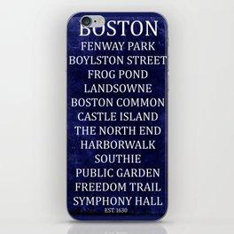Boston 2 iPhone Skin