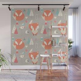 Fox forest Wall Mural