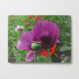 DeepDream style, Poppy, DeepDream Metal Print