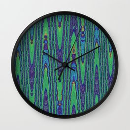 Sine Waves Abstract Watercolor Wall Clock