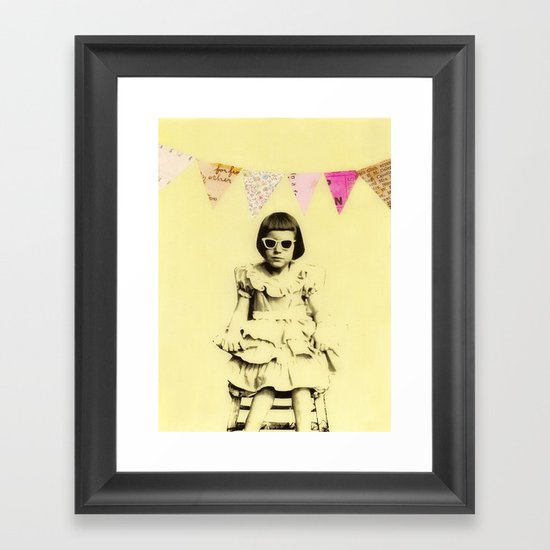 """Partially Amused"" Framed Art Print"