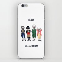 vampire weekend iPhone & iPod Skins featuring Vampire Weekend Holiday by Knifeson