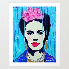 Frida Kahlo,  Happy Frida Art Print