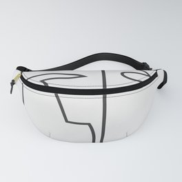 abstract line art face 2 Fanny Pack