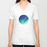 polygon V-neck T-shirts featuring Polygon Planet by Victor Velocity