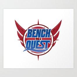 #BenchOnaQUEST Logo Apparel Art Print