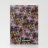 clueless Stationery Cards featuring clueless collage by zefpunk