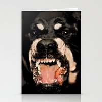 givenchy Stationery Cards featuring Givenchy Antigona Rottweiler Art Print by Le' + WK$amahoodT Boutique by Paynasa®