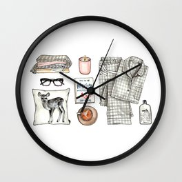 fashion. pajamas day Wall Clock