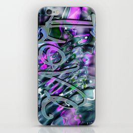 Liquid Love by Artist McKenzie iPhone Skin