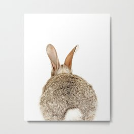 Bunny Tail Print by Zouzounio Art Metal Print