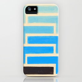 Baby Blue Geometric Pattern iPhone Case