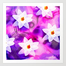 abstract atmospheric floral design Art Print