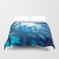 palms Duvet Covers featuring Palms by Tat Georgieva