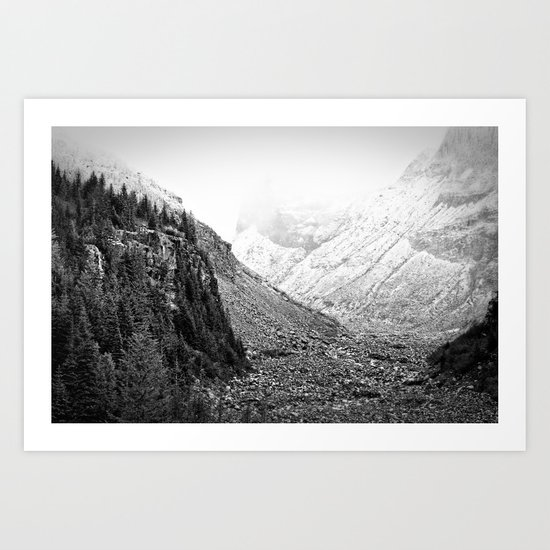 Mountain Valley Fog Art Print