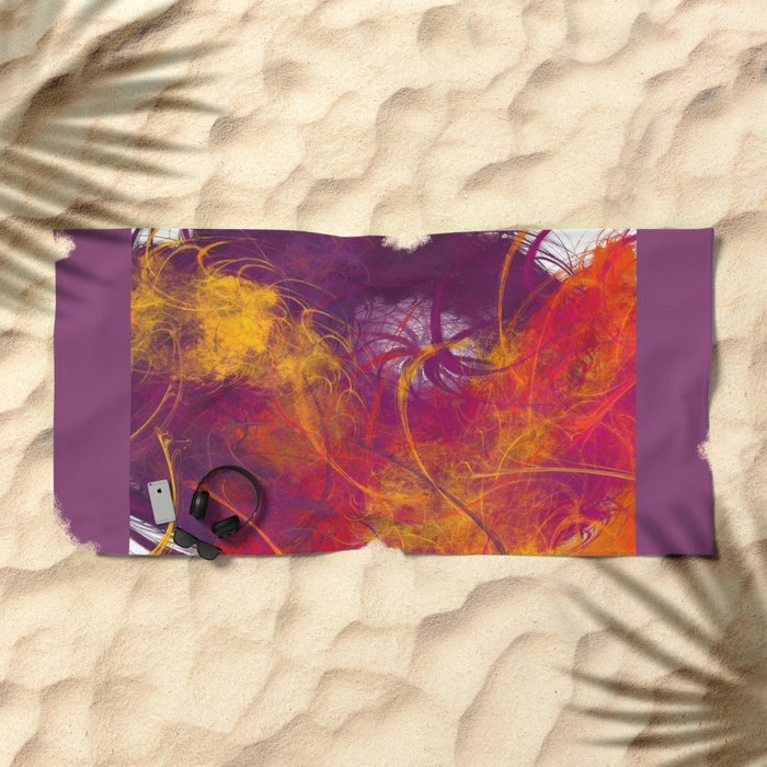 It is because of you Beach Towel