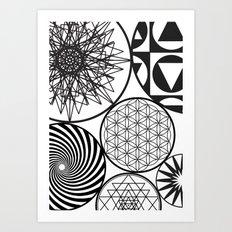 NAKED GEOMETRY no 9 Art Print