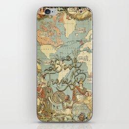 Book Traveler Vintage Map v3 iPhone Skin