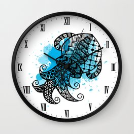 Zodiac Zentangle - Aquarius Wall Clock