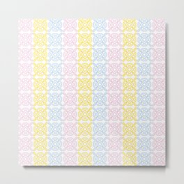 Geometric pattern pastel Metal Print