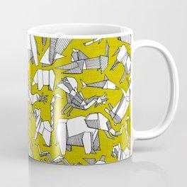 origami animal ditsy chartreuse Coffee Mug