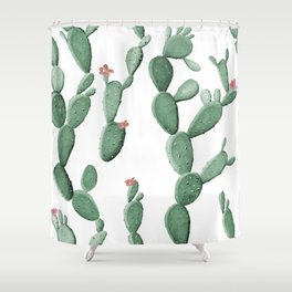 Flowering Cacti Shower Curtain